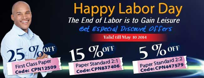 Happy #LaborDay The End of #Labor is to Gain Leisure Get Special #Discount Offers