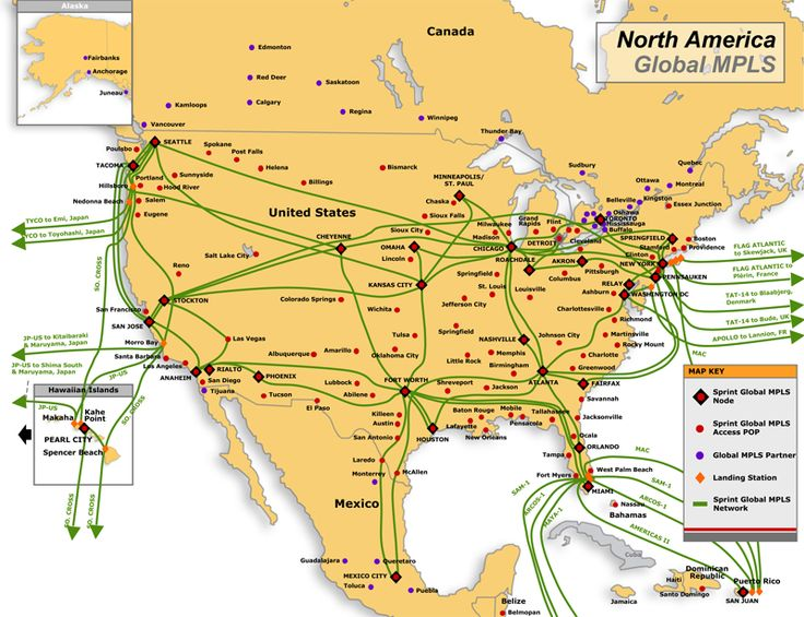 On This Page Is A Collection Of Links To Maps Of Us Longhaul And Intra Regional Fiber Networks