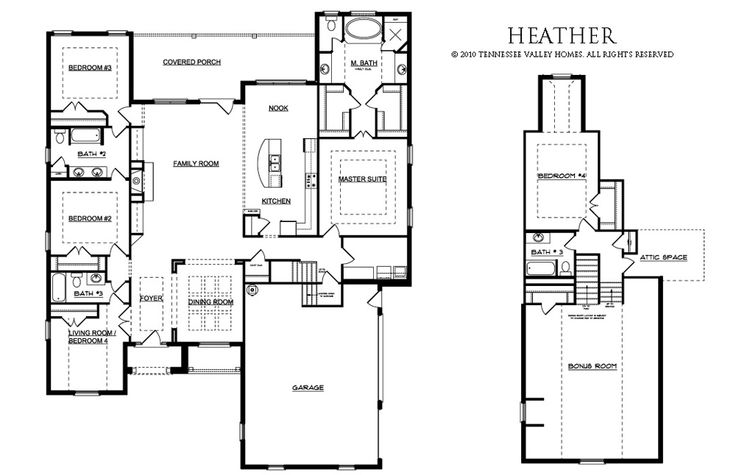 The Heather Tennessee Valley Homes