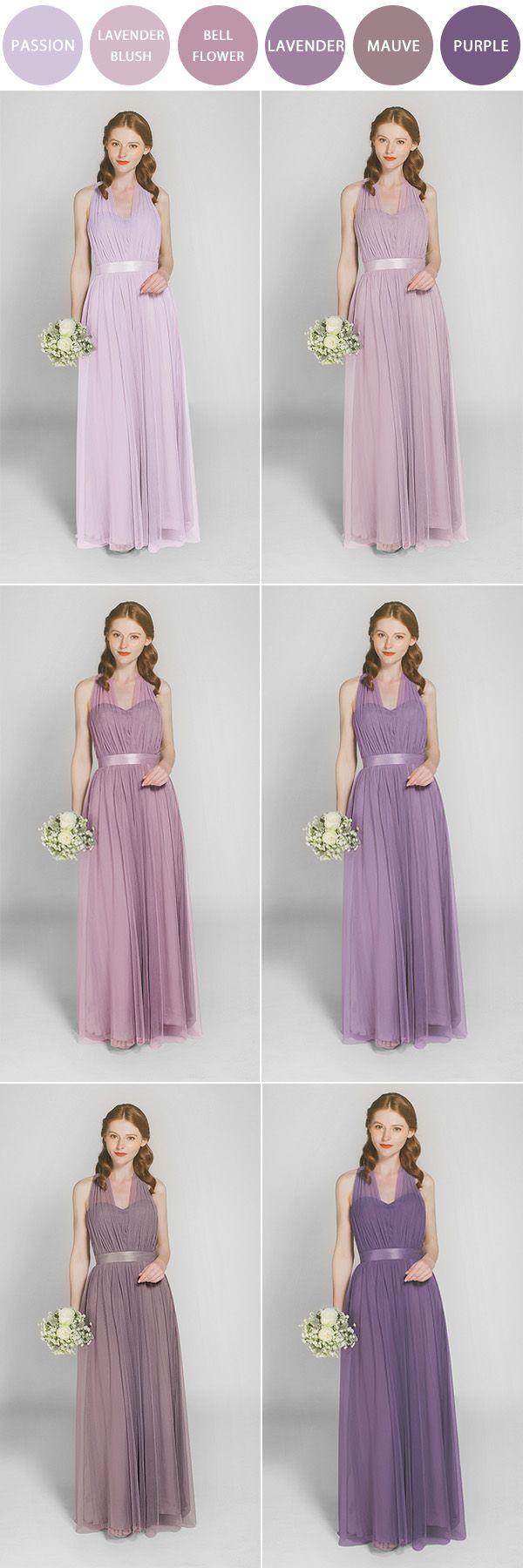 shades of purple bridesmaid dresses