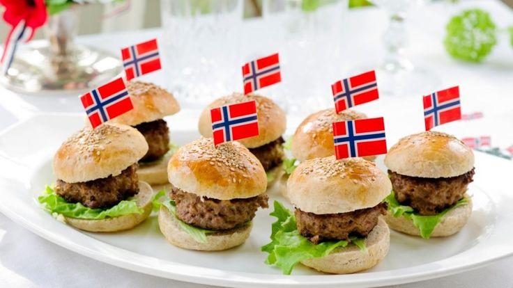 Oppskrift på Miniburgere med Norvegia