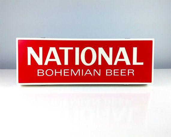 Vintage Sign Light Up National Bohemian Beer Sign by Retroburgh