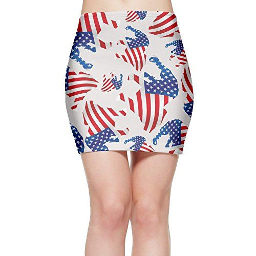 Patriotic dress women - Hsfs Skirts Patriotic Pitbull American Flag Women s  Bodycon Short Mini Skirt- Show how proud you are of our beautiful country  with ... 398a1a41b