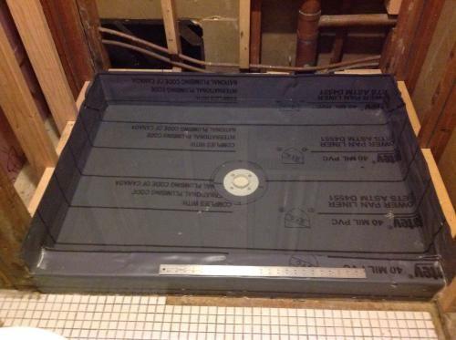 Null corner dam for pvc shower pan liner bathroom ideas bathroom remodeling and bathroom showers - Shower base liner ...
