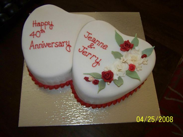 Ruby Wedding Anniversary Cake Ideas: 25+ Best Ideas About 40th Anniversary Cakes On Pinterest