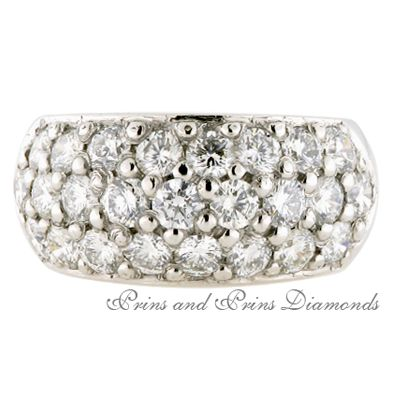 25 = 2.350ct GH/VS – SI round brilliant cut diamonds multi-pave set in 18k white gold