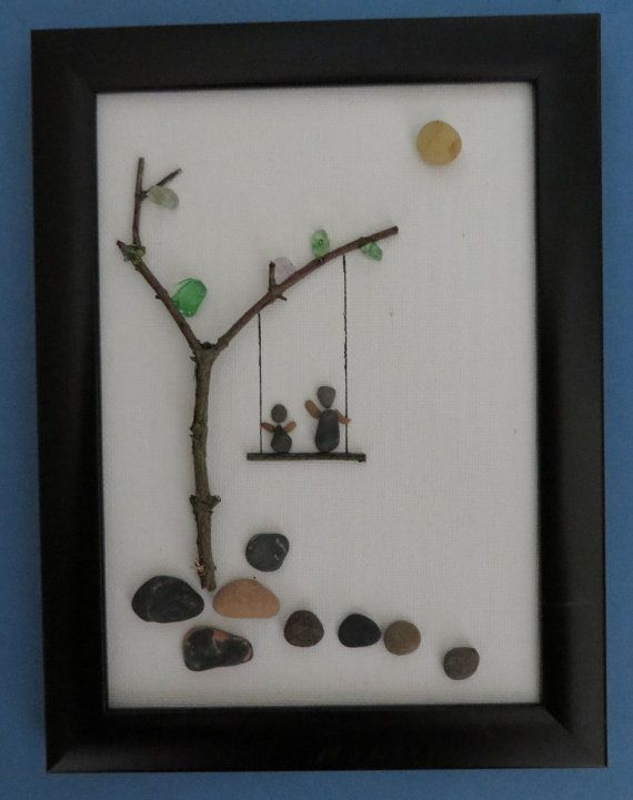Swinging Pebble Art Canvas by ShoreThingsNE on Etsy