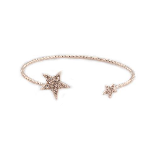 Czech Crystal Stars 14K Rose Gold Bracelet | @t+j Designs