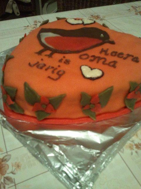 robin bird cake