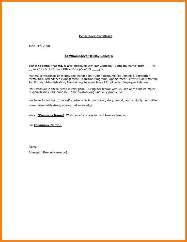 How Make Certificate Employment Letter Joblettered  Home Design