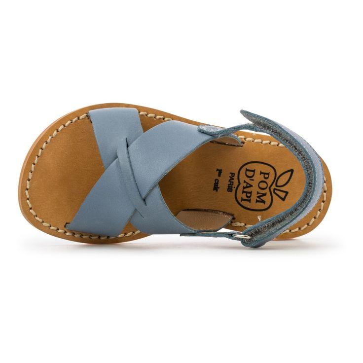 Sandales Plage Stitch Cross Bleu jean Pom d'Api Chaussure Enfant ...