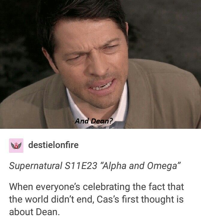 supernatural season 11 finale, alpha and omega, destiel