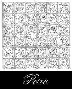 diseño del techo de metal prensado - Petra