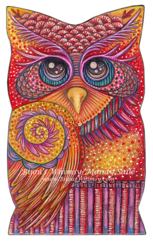 Owlette OPHIRA - PRINT by Mandy Saile Pinned by www.myowlbarn.com