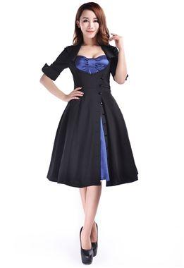 Super cute dress in vibrant blue and black. £43.99.