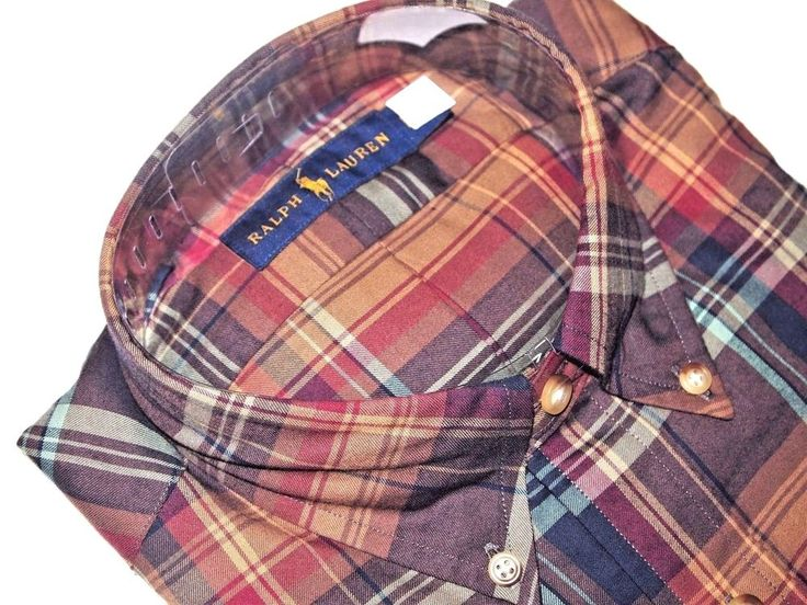 Ralph Lauren men's plaid shirt size small NEW on SALE  #RALPHLAUREN #ButtonFront