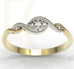 Pierścionek z żółtego i białeg złota z diamentami / Ring made from yellow and white gold with diamonds / 1 089 PLN / #jewellery #ring #engagementring #engagement #inspiration #gold #diamonds