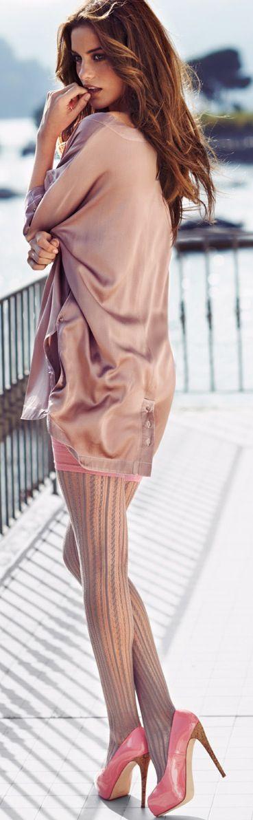 Peach fashion model
