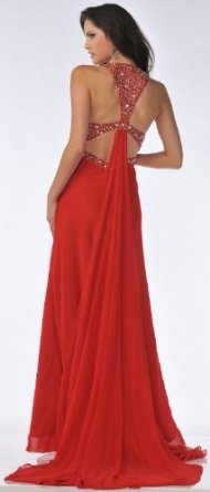 Love the detail and backing. What a beautiful dress.  #prom #formal #red #blue #dress