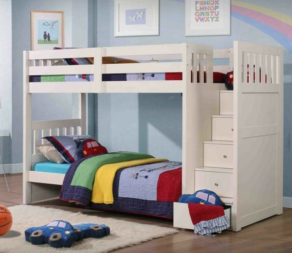 Kreative Kinderhochbetten Welche Den Stil Des Raumes Bestimmen Bunk Beds With Storage Cool Bunk Beds Bunk Beds Boys