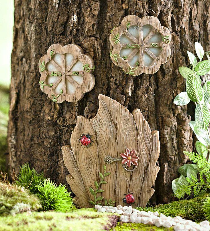 Miniature Fairy Garden Daisy Door Tree Accent | Miniature Fairy Gardens