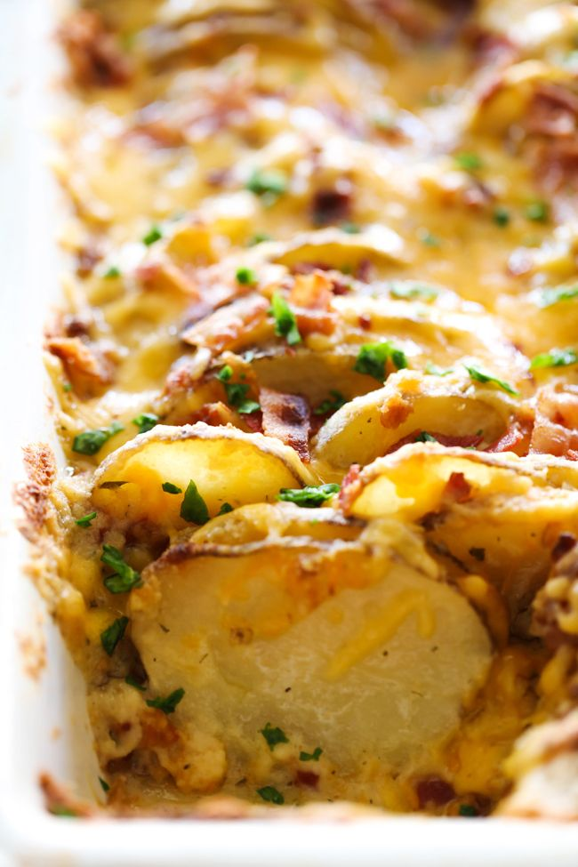 These Bacon Ranch Scalloped Potatoes are LOADED with incredible flavor. It will an instant favorite and soar to the top of your family's favorite side dishes!