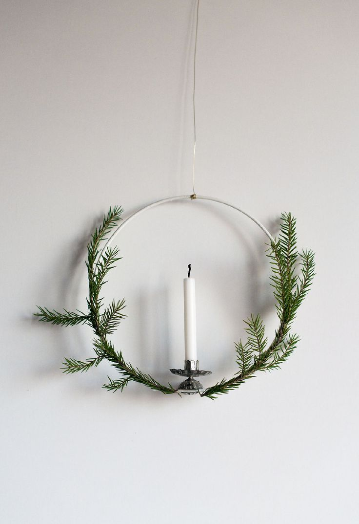 DIY: CHRISTMAS WREATH WITH CANDLE (Diy Candles Christmas)