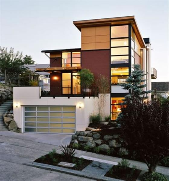 I also love modern contemporary homes..: House Design, Modern Exterior, Garage Doors, Exterior House, Home Design, Architecture, Modern Home, Modern House, Exterior Home
