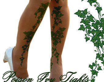 Hiedra venenosa tatuaje medias verde hiedra hojas por colinedesign