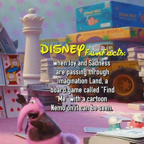 Inside Out Disney fact
