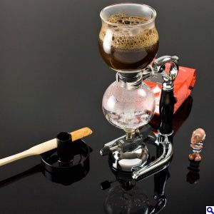 Siphon coffee making