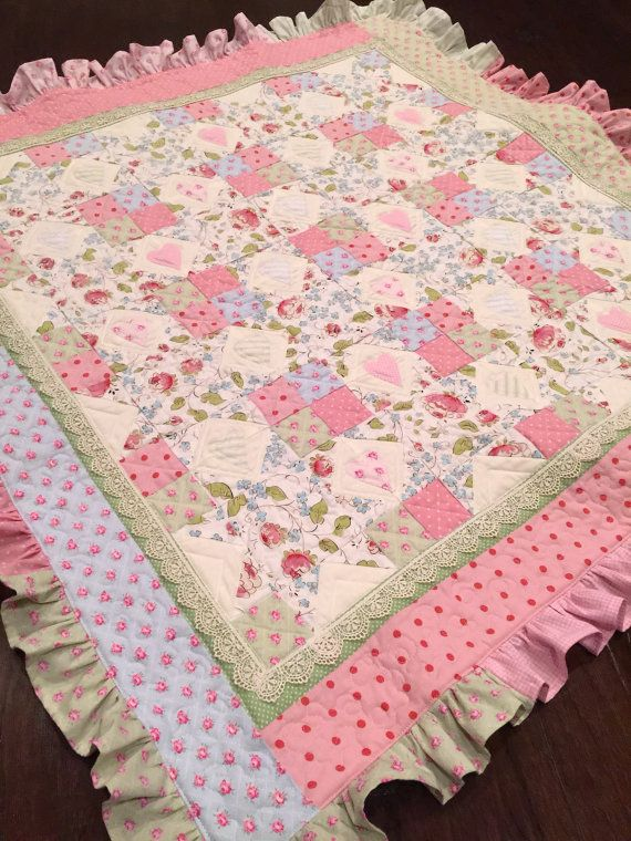 Ruffle Baby Quilt Pattern Lace Quilt Pattern Baby