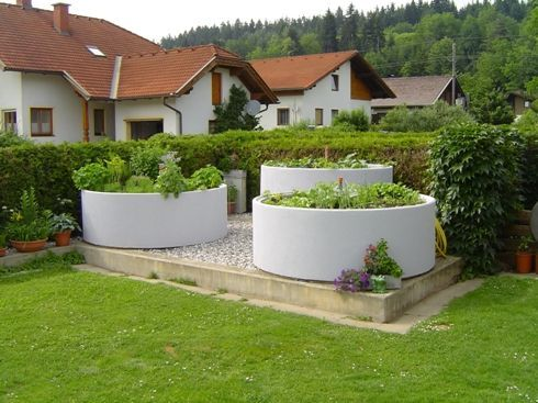 Raised Beds Made Of Concrete Concrete Gartengemusegemuse Raised Haveideer