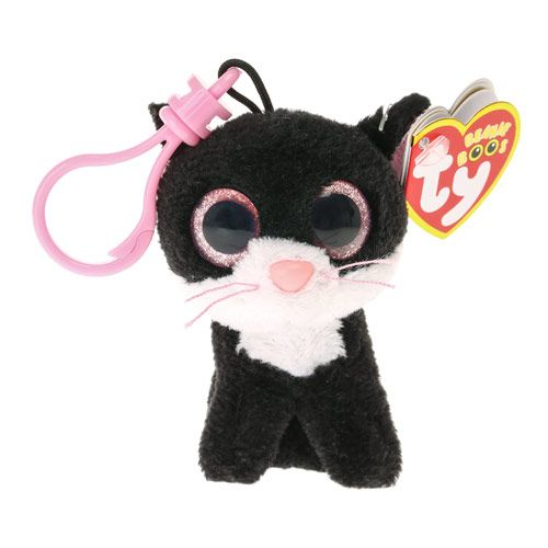 Small TY Beanie Pepper the Cat Keyring