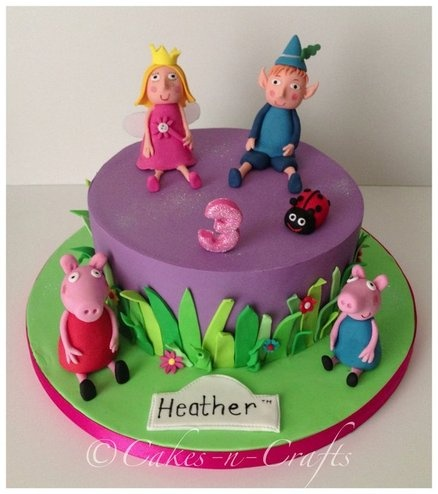 Ben and holly, peppa and George pig cake  Cake by Cakesncrafts