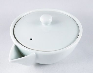 "Teiera ""hôhin"" di porcellana bianca 140ml."