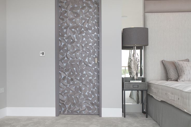 Stephenson Wright Project | Bespoke joinery | Pocket door | Woodleaf wallpaper | Interior Design