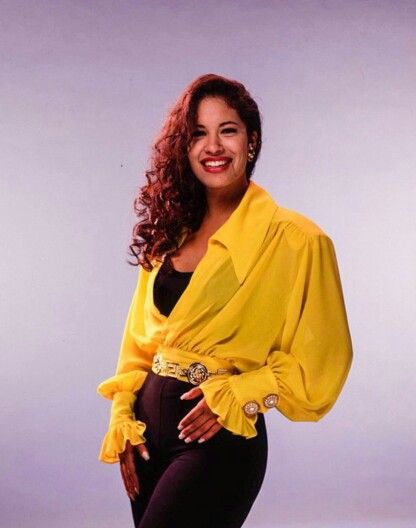 Selena Quintanilla with her Agree Shampoo ad.
