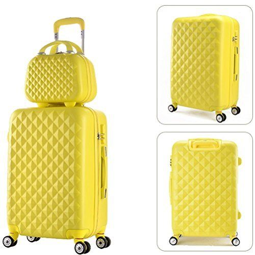New Trending Luggage: 2 Piece Luggage Set Spinner Trolley Suitcase Hard Shell Carry On Bag (22 Inch, Yellow). 2 Piece Luggage Set Spinner Trolley Suitcase Hard Shell Carry On Bag (22 Inch, Yellow)  Special Offer: $89.99  477 Reviews Best choice for Traveling ,perfectly fit for business or family use Transport your travel essentials effortlessly and stylishly. This lightweight and durable...