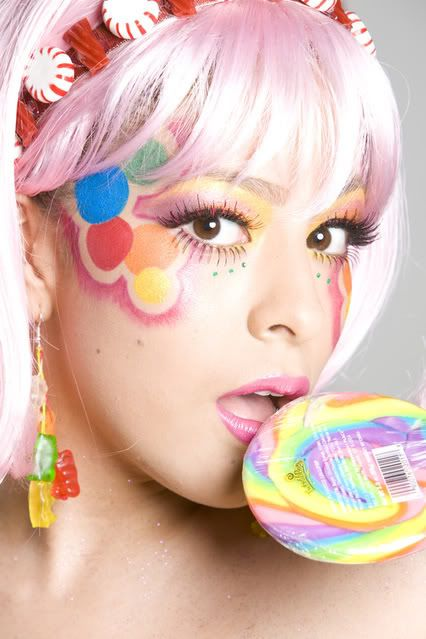 Image result for makeup and candy photo shoot