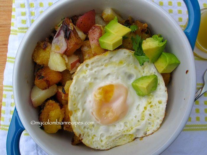 Sweet Plantain and Potato Hash