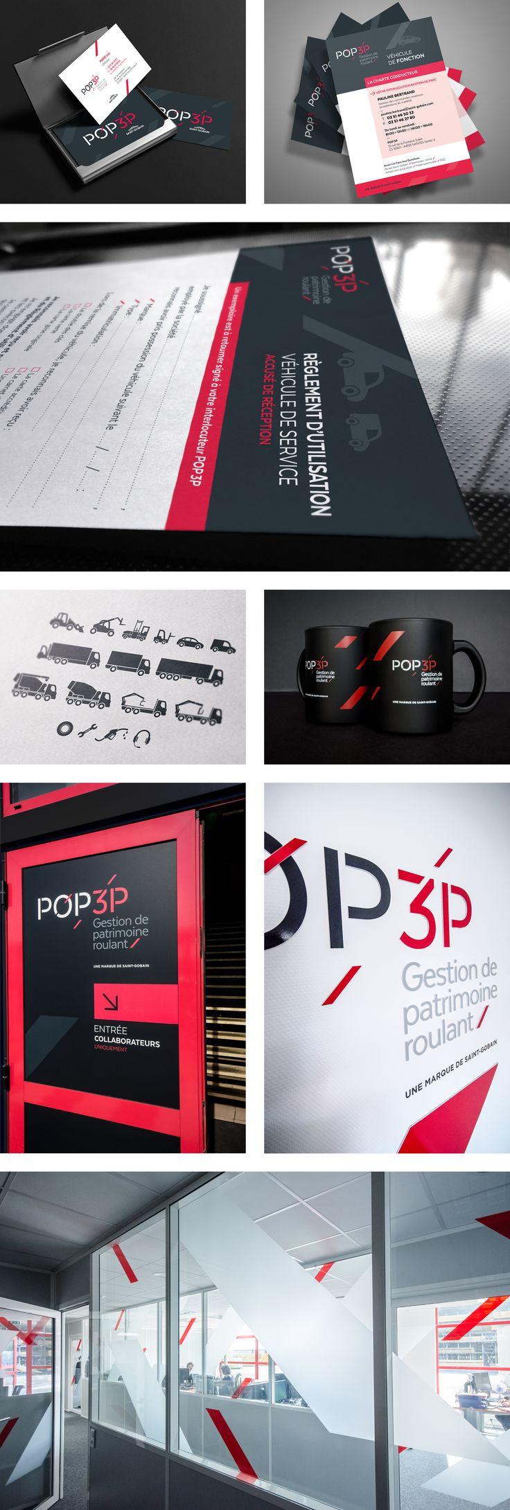 MOSWO | le privé | Pop 3P | identité | logotype | signature | identité visuelle | Agencement | bureaux | Espace | Corporate |