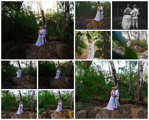 photo ideas of posing on rocks near river