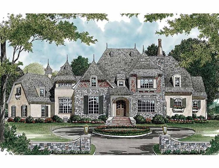 Eplans French Country House Plan - Royal Domain - 5191 Square Feet and 5 Bedrooms(s) from Eplans - House Plan Code HWEPL13418