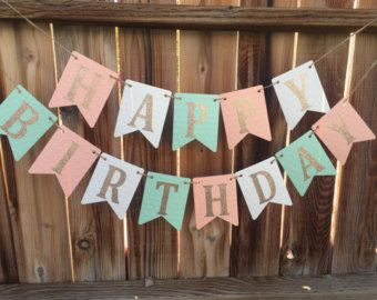 Banner de feliz cumpleaños muchacha por CreationsByRosieLou en Etsy