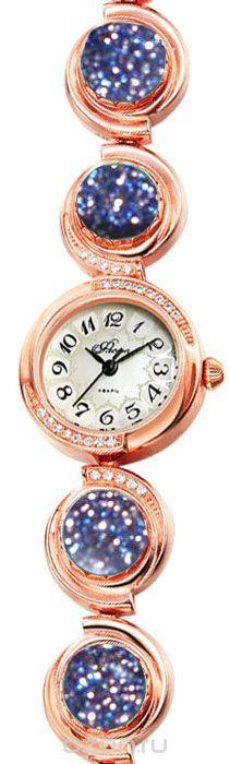 Часы женские наручные Mikhail Moskvin Флора, цвет: золотистый. 1138B8B1 Авантюрин синий