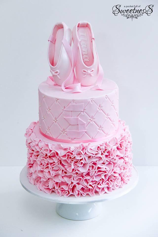 Little Wish Parties | Beautiful Ballerina Birthday Cake | https://littlewishparties.com