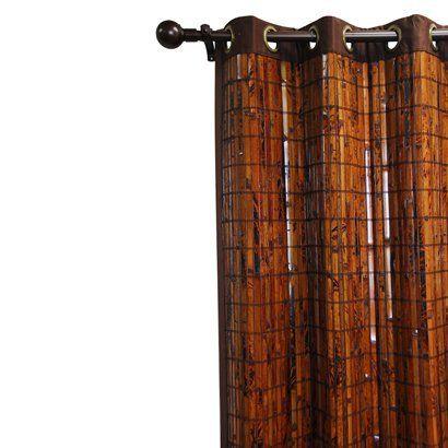 """for the dinning room doors - Bamboo Grommet Window Panel - Espresso/ Brown (42x63"""")"""