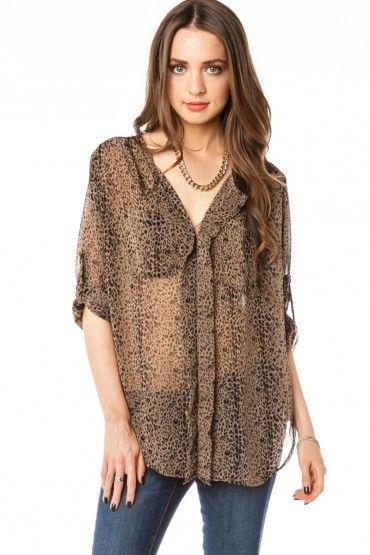 cheetah print blouse.