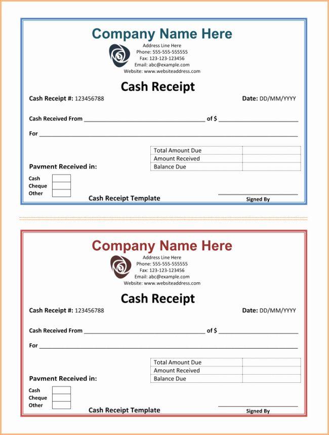 Cash Receipt Template Free Best Of Cash Receipt Template 5